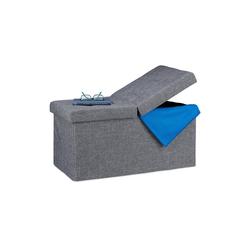 relaxdays Sitzbank Sitzbank mit klappbarem Deckel grau
