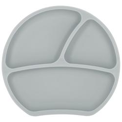Kindsgut Kindergeschirr-Set (1-tlg), Silikon, Teller, Saug-Geschirr, taupe, geprüft, BPA-frei, umweltfreundlich, rutschfest, für Babys und Kleinkinder grau