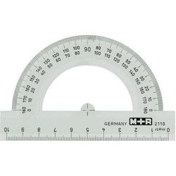 Halbkreis-Winkelmesser 10cm glasklar