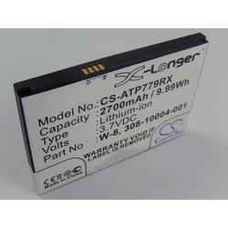 vhbw Li-Ion Akku 2400mAh (3.7V) für Mobile Hotspot Netgear AC779s, Aircard 779s, Fuse 779, NTGR779ABB wie W-8, 308-10004-01.
