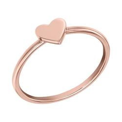 Minimalistischer Goldring mit Herz Ottilie