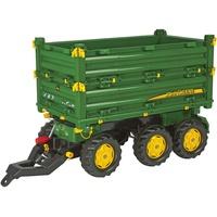 ROLLY TOYS rollyMultitrailer John Deere Dreiachskipper Traktoranhänger grün (125043)