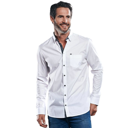 Hochwertiges Baumwollhemd Engbers Reinweiss