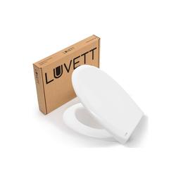 LUVETT WC-Sitz LUVETT Toilettendeckel mit Absenkautomatik C770 oval, WC-Sitz mit 3 Edelstahl Scharnieren, Klobrille mit Abnahmefunktion weiß
