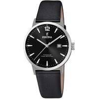Festina Herren Analog Quarz Uhr mit Leder Armband F20471/3