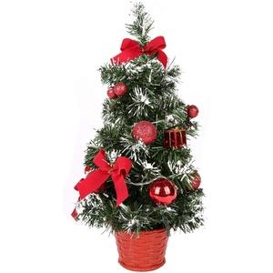 Mini Weihnachtsbaum mit Beleuchtung, klein Künstlicher Tannenbaum mit LED Beleuchtung, Gold Baumschmuck Weihnachtskugeln Künstliche Weihnachtsbäume Deko 40CM