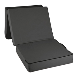 Bestschlaf Gästebett Gästematratze, Schwarz Matratze: 75 x 195 x 15 cm Hocker: 75 x 65 x 45 cm schwarz