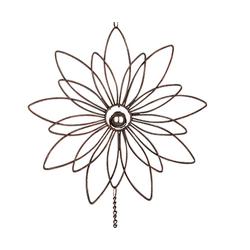 dekojohnson Fensterdekoration Fensterdeko Blüten-Hänger Metall Sonnenfänger 85