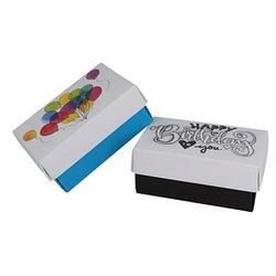 2 BUNTBOX Geburtstag L Geschenkboxen-Set weiß