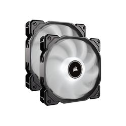 Corsair Gehäuselüfter AF140 LED-Lüfter, 2er Pack – weiß
