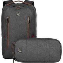 Wenger Laptoptasche Wenger City Upgrade 39.6 cm (15.6) Laptop Rucksack mit Cross Body Day Tasche Grau