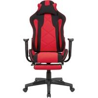 AMSTYLE Gaming-Schreibtischstuhl Stoff rot/schwarz