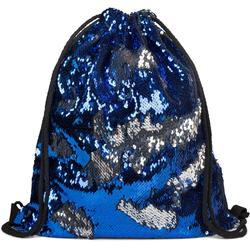 styleBREAKER Turnbeutel, Turnbeutel mit Wendepailletten blau