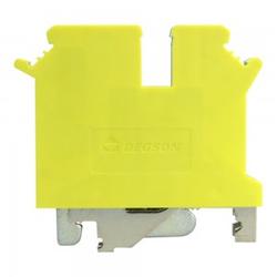 Schutzleiter-Reihenklemme 4mm2 3 Leiter Gelb-grün UL 3480
