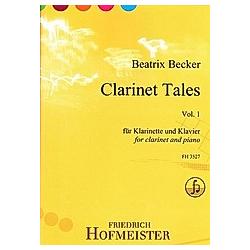 Clarinet Tales  Vol. 1  für Klarinette und Klavier. Beatrix Becker  - Buch