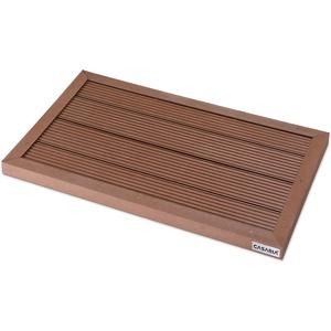 WPC Bodenelement Solardusche Gartendusche Bodenplatte Pool Wellness Outdoor SPA