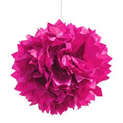 3 PomPoms Pompons Seidenpapier Hochzeit Geburtstag Party Deko - pink