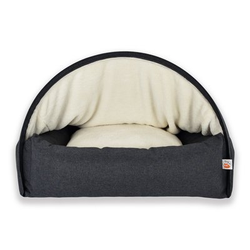 Sleepy Fox® Kuschelhöhlen Hundebett, L, 75 x B 105 x H 65 cm, grau