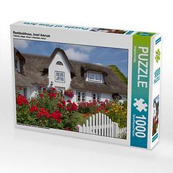 Reetdachhaus, Insel Amrum Lege-Größe 64 x 48 cm Foto-Puzzle Bild von Siegfried Kuttig Puzzle
