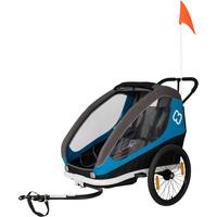 Hamax Traveller Kinderanhänger inkl. Fahrraddeichsel und Buggyrad blue/grey 2021