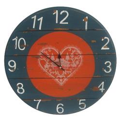 elbmöbel Wanduhr Uhr Wanduhr rot blau antik (Uhr Wanduhr rot blau antik)
