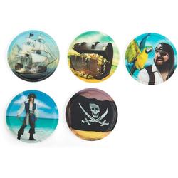 ergobag Schulranzen Klettie-Set 5er Piraten