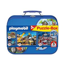 Schmidt Spiele Puzzle-Tasche Puzzlekoffer 2 x 60 u. 2 x 100 Teile Playmobil