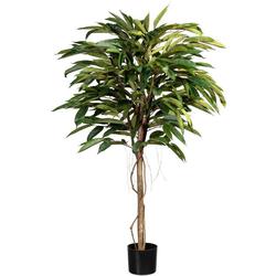 Kunstbaum Ficus Alii de Luxe Ficus Alii de Luxe, Creativ green, Höhe 150 cm