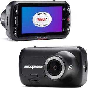 Nextbase 222 – Autokamera Dashcam Auto – Full 1080p/30fps HD Aufzeichnung - 140° Weitwinkel GSensor Parküberwachung Click & GO Mini Discreet Mount - Black
