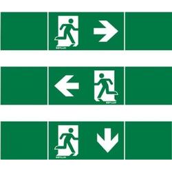 ESYLUX EN10017711 Piktogramm Notausgang links, Notausgang rechts, Notausgang unten