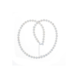 Bella Carina Perlenkette Kette mit echten Süßwasser Perlen 6 mm