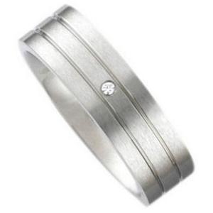 Vivance Partnerring Classic Ring aus Edelstahl mit einem Zirkonia Stein 23 = 72 mm Umfang