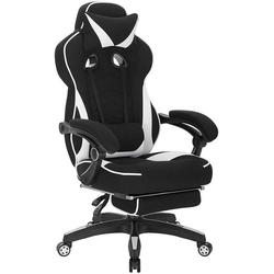 Woltu Gaming-Stuhl, Gaming Stuhl aus Stoff mit Lendenkissen Hani