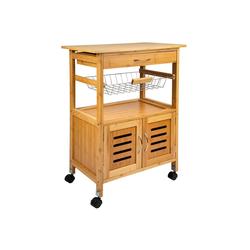 ONVAYA Küchenwagen Küchenwagen Tokio, Küchenrollwagen aus Holz, Bambus, Beistellwagen mit Rollen