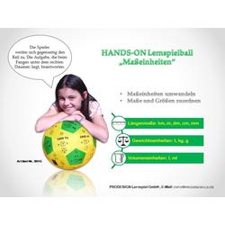 HANDS ON Lernspielball - Maßeinheiten