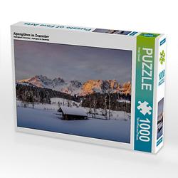 Alpenglühen im Dezember Lege-Größe 64 x 48 cm Foto-Puzzle Bild von Peter Überall Puzzle