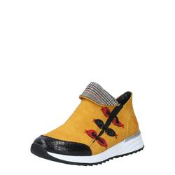 RIEKER Damen Boots weiß / senf / blutrot / schwarz, Größe 39, 4996344