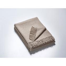 Plaid Das Plaid – Merino-Decke 140 cm x 190 cm (850 g), Kaipara - Merino Sportswear, Kuschelig weiche Woll-Decke aus reiner Merinowolle - ungefärbt, unbehandelt und mulesing-frei - Made in Germany grau