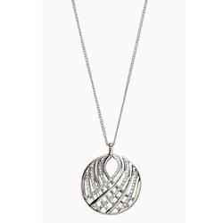 Next Gliederkette Lange, filigrane Halskette mit Pavé-Anhänger