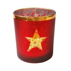 Teelicht Sterne rot groß