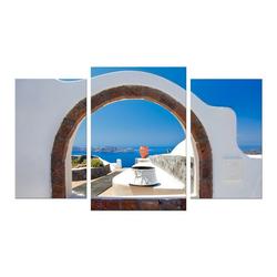 Bilderdepot24 Leinwandbild, Leinwandbild - Window to Paradise - Fenster zum Paradies 100 cm x 60 cm