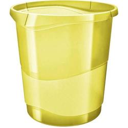 Papierkorb Colour'Ice PP 14l transparent gelb