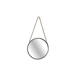 Spiegelprofi Metallspiegel Hannah in schwarz, 40 cm