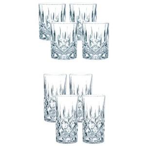 Spiegelau & Nachtmann 0089207-0 Whiskybecher Set/4 617 71 Noblesse + Spiegelau & Nachtmann 0089208-0 Longdrink Set/4 617 91 Noblesse