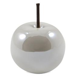 matches21 HOME & HOBBY Dekofigur Deko Äpfel Deko-Obst 1 Stk. weiß 8x8x6,5 cm (1 Stück) 8 cm x 6.5 cm x 8 cm