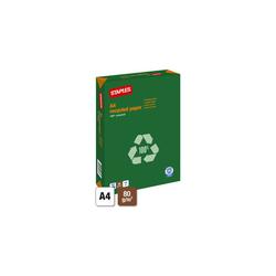 Staples recycled Paper A4 80g Recyclingpapier weiß 500 Blatt