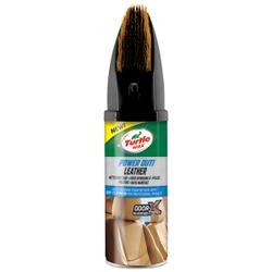 TURTLE WAX Lederpflege mit Bürste, Ideale Pflege für Ledersitze, 400 ml - Flasche
