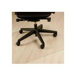 relaxdays Bodenschutzmatte Bodenschutzmatte Bürostuhl transparent 90 cm x 90 cm x 0.17 cm