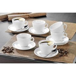 Esmeyer Kaffeetassen-Set weiß 12-teilig