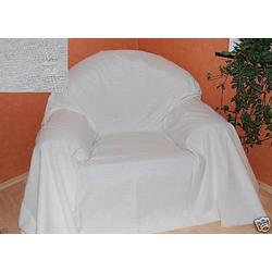 Überwurf Überwurf Sofaüberwurf Tagesdecke creme 275 x 275cm Textil schmutzabweisend, Clever-Kauf-24